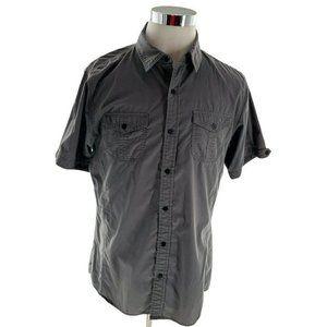 Jordan Craig Men Gray Short Sleeve Button up Shirt